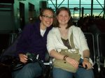 My friend Megan and I at the Miami airport waiting for our plane to Buenos Aires