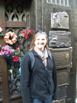 in front of the tomb of Eva Peron